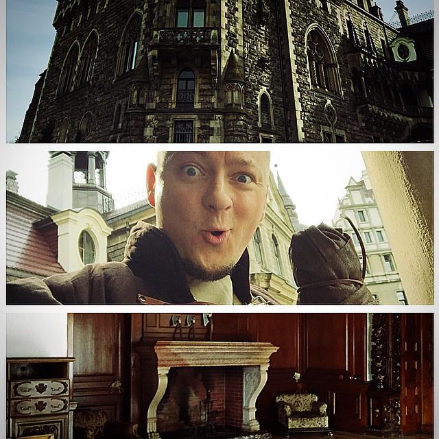 #Wiedźmin Wawrin z Kal Kalis nad Prosnarem zwiedza #Zamek Moszna ??‼️??#castle #larp #witcher #fun #polishboy #poland #sapkowski #mikewaw